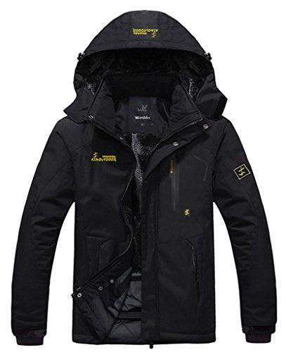 Wantdo Men's Waterproof Mountain Jacket Fleece Windproof Ski Jacket(US XL) (3 Inch Outside Vent compare prices)