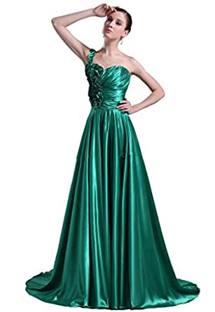 Amazon com one shoulder formal cheap prom dresses party dress sexy