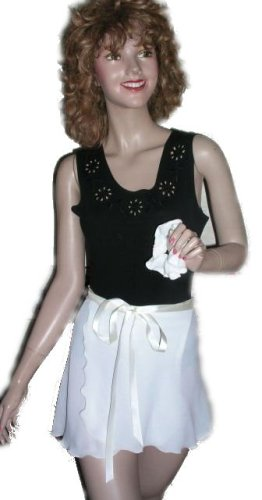 Ivory Wrap Ballet Skirt w/matching Hair Scrunchie Adult/ Child - Buy Ivory Wrap Ballet Skirt w/matching Hair Scrunchie Adult/ Child - Purchase Ivory Wrap Ballet Skirt w/matching Hair Scrunchie Adult/ Child (Sheer Delights Dancewear, Sheer Delights Dancewear Skirts, Sheer Delights Dancewear Womens Skirts, Apparel, Departments, Women, Skirts, Womens Skirts, Wrap, Wrap Skirts, Womens Wrap Skirts)