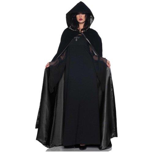 Goth Black Velvet Cloak