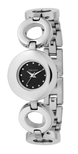 DKNY Ladies Stainless Steel Bracelet Watch With Black Dial