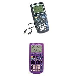 Texas Instruments TI-83 Plus Graphing Calculator with Guerrilla Silicone Case (Purple)