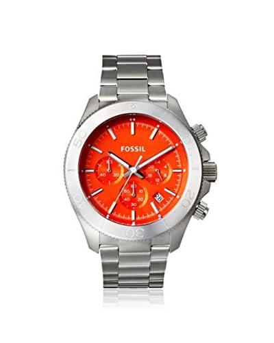 Fossil Men's CH2868 Retro Traveler Silver/Orange Stainless Steel Watch