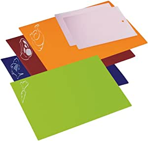 Prepworks from Progressive International PCC-606 Flexible Color-Coded Chopping Mats, Set of 6