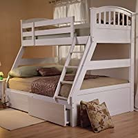 Epsom Triple Sleeper Storage Bunk Bed Finish: White