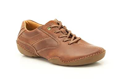 Clarks Mens Casual Roost Style Leather Shoes In Tan Standard Fit Size 13