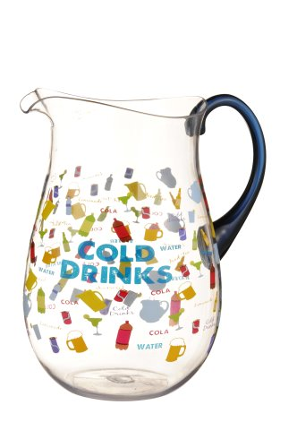 "Grasslands Road 3-Pack ""Cold Drinks"" Acrylic Pitcher, 80-Ounce"
