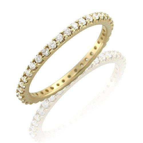 14k Yellow Gold Diamond Eternity Band Ring (GH, I1-I2, 0.50 carat) [Jewelry]
