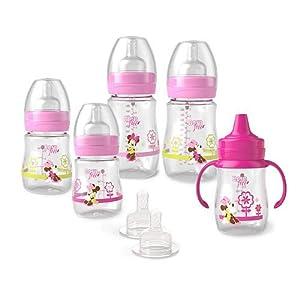 Born Free BornFree BPA Free Disney Minnie Feeding Natural Milk Flow Bottle Gift Set