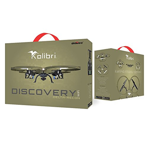 Kolibri Discovery Delta-Recon U818A WiFi FPV Quadcopter Drone Tactical Edition Military Matte Green UDI RC **EXTRA BATTERY INCLUDED**