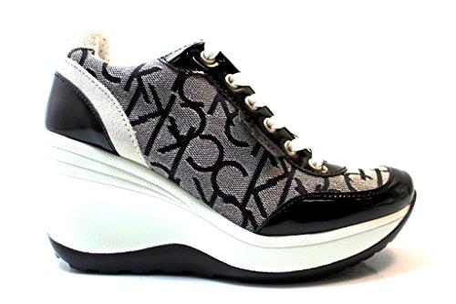 Calvin Klein Jeans RE9236 Granite Sneakers Scarpe Donna Casual Sportive Zeppa