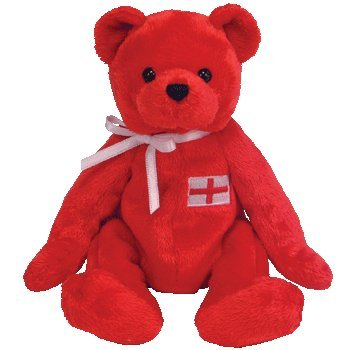 TY Beanie Baby - GEORGE the Bear (Europe Exclusive)