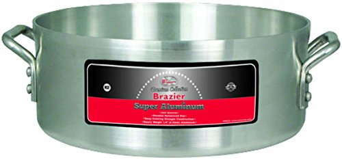 Winco USA AXHB-28 Super Aluminum Braizer, Extra Heavy Weight, 28 Quart, Aluminum