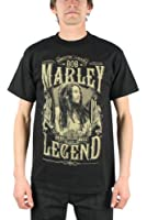 Bob Marley - Rebel adultes T-shirt Legend in Black