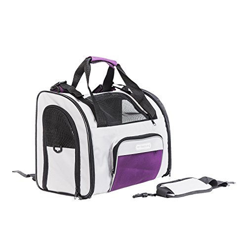 Luxury Pet Carrier Soft Sided Airline Approved ! Can Be Back pack and/or Front pack and even on a Trolley. Suitable For Cars, Plane and Excellent For Hiking