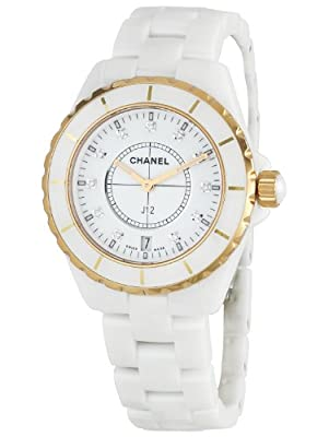 Chanel Men's H2180 J 12 White Dial Watch