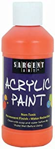 Sargent Art 22-2314 8-Ounce Acrylic Paint, Orange