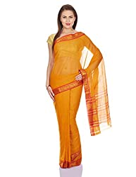 Pavechas Womens Yellow Venkatgiri Saree -MK056