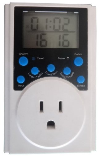 Goliton® Digital LCD Electronic Plug-in Program Digital Electronic timer switch – PLUG SOCKET