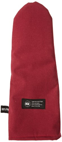 "San Jamar Kt0118K Kool-Tek Nomex Puppet Temperature Protection Oven Mitt With Kevlar, 17"" Length, Red"