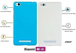 For Xiaomi Mi 4i[COMBO OFFER]: Unistuff™ Matte Finish Hard Case Back Cover for Xiaomi Mi 4i [SLIM FIT][FREE SHIPPING] (Sky Blue, White)