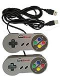 Gamebound SNES Super Nintendo Controller, Retro USB Controller for PC/Mac/Retro Pi (Pack of 2)