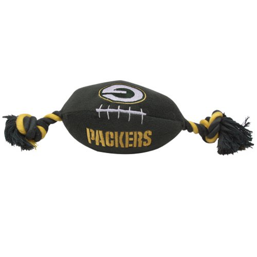 Pets First Green Bay Packers Pet Football Rope Toy, 6-Inch long