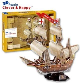 Mayflower Pilgram Sail Ship Boat 3 D Model Kit (Mayflower Model Kit compare prices)