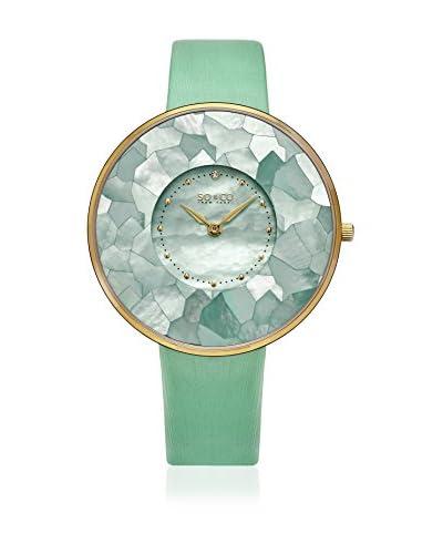 SO & CO New York Reloj de cuarzo  Verde Claro 38 mm