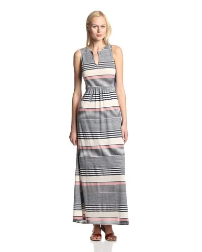 LAmade Women's Nautical Varigated Stripe Maxi Dress