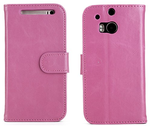 Mylife Light Pink And Black {Classy Textured Design} Faux Leather (Card, Cash And Id Holder + Magnetic Closing) Slim Wallet For The All-New Htc One M8 Android Smartphone - Aka, 2Nd Gen Htc One (External Textured Synthetic Leather With Magnetic Clip + Inte