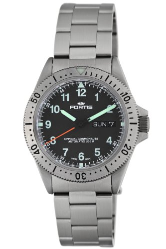 Fortis Men's 610.10.11 M Official Cosmonauts Day and Date Watch