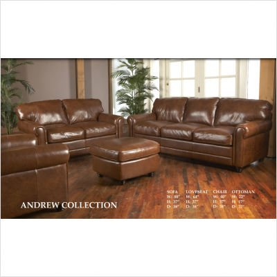 Andrew Italian Leather Sofa and Loveseat Set