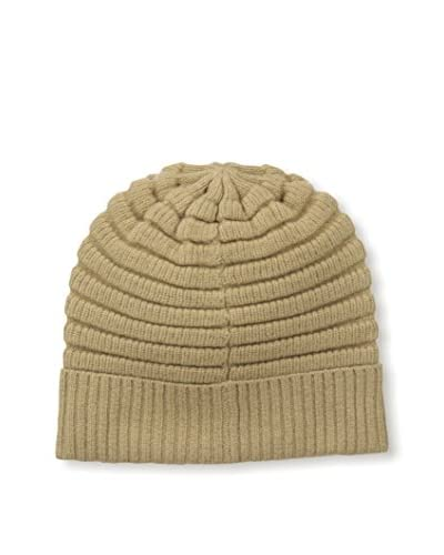 Cole Haan Men's Horizontal Rib Cuff Hat, Camel, One Size