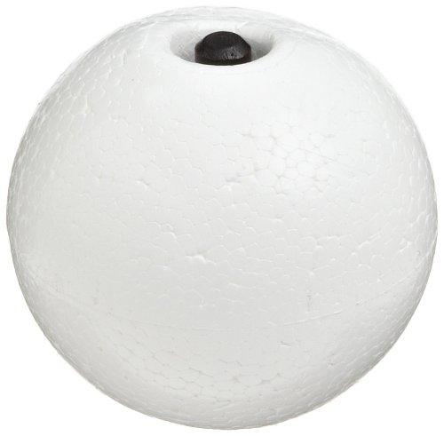 "Molecular Models White Polystyrene Semi-Space Filling Hydrogen Atom Center, 2"" Diameter"