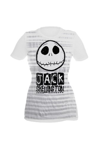 The Nightmare Before Christmas Jack Stripes Girls T-Shirt Plus Size