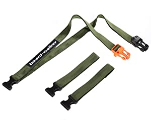 SNOWBOARD CARRIER/LEASH/LEAD - Board-Walker in Army (ODs)