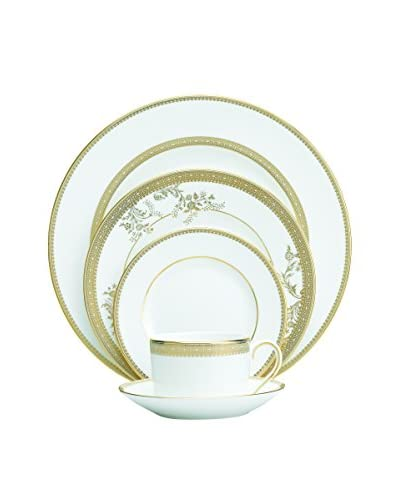 Vera Wang Vera Lace Gold 5-Piece Place Setting