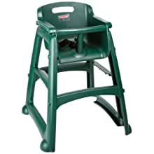 "Rubbermaid Commercial FG780608 Dark Green Sturdy Chair Youth Seat without Wheels, 23.5"" Length, 23.5"" Width, 29.75"" Height"
