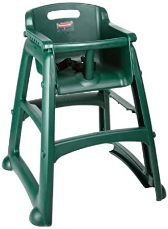 "Rubbermaid FG780608 Dark Green Sturdy Chair Youth Seat without Wheels, 23.5"" Length, 23.5"" Width, 29.75"" Height"
