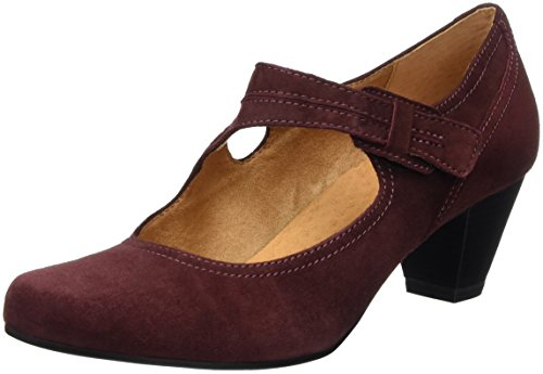 Caprice 24401, Mary Jane Donna, Rosso (Bordeaux Suede 548), 40 EU