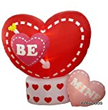 6 Foot Animated Valentine's Inflatable Hearts - Heart Rotates - romantic Valentines Gifts for Couples, Cute Valentines Day Gift Ideas, Good Couple Gifts for Valentines, Romantic Anniversary Gifts