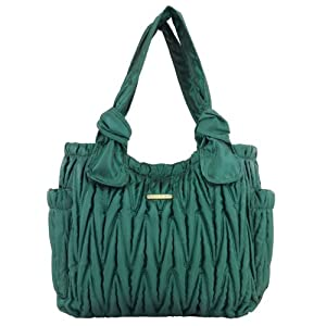 timi & leslie Marie Antoinette 7-Piece Diaper Bag Set, Emerald