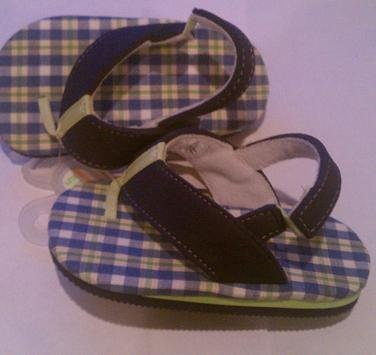 Baby Deer Shoes Boys Plaid Thong Sandal