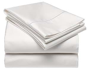 Renaissance 600-Thread-Count Cotton Sateen Queen Sheet Set, White