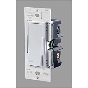 leviton vze06 1lx vizia 600 watt 120 volt ac electronic low voltage dimmer with led locator and. Black Bedroom Furniture Sets. Home Design Ideas