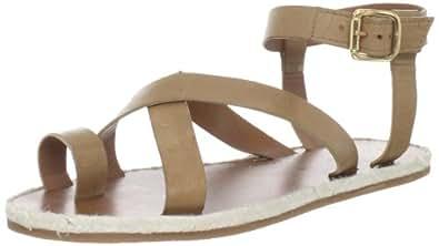 Madison Harding Women's Judd Ankle-Strap Sandal,Brown,5 M US