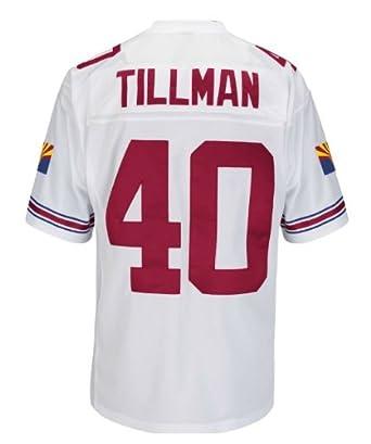 Pat Tillman Arizona Cardinals White Stitched Throwback Jersey by Mitchell & Ness
