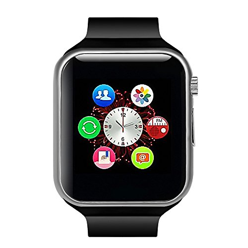 Lincass Smart Watch Bluetooth Fitness WristWatch Waterproof Smartwatch with Camera Pedometer Anti-lost Men Women Health Bracelet Watch for Apple iphone IOS Samsung Huawei Android Smartphone (Black)