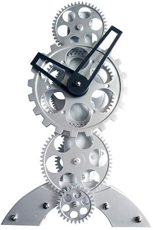 Maple's Clock TCL06-833 Moving Gear Desktop Clock
